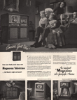 Vintage Television Advertisement Magnavox, Saturday Evening Post 1949