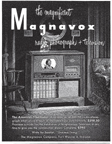 Vintage Television Advertisement Magnavox TV February 1949 issue of Holiday Magazine