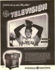 Vintage Television Advertisement General Electric featuring Pitcher Bob Feller