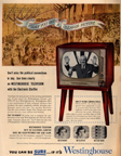 Vintage Television Advertisement Westinghouse covers the political conventions