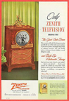 Vintage Television Advertisement 1950 Zenith Porthole TV