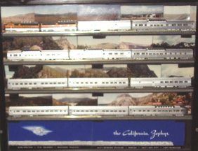 N-Scale Model of the California Zephyr