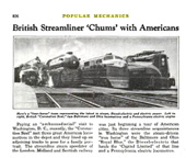 Other Streamlined Locomotives at the World's fair