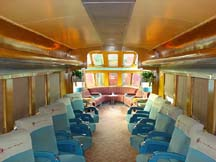 The Otto Kuhler Hiawatha Observation Car-inside