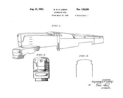 Mr. Loewy's Patent D 134,260 for the T-1