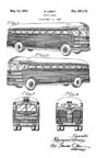 Raymond Loewy Greyhound Bus Design patent D127174