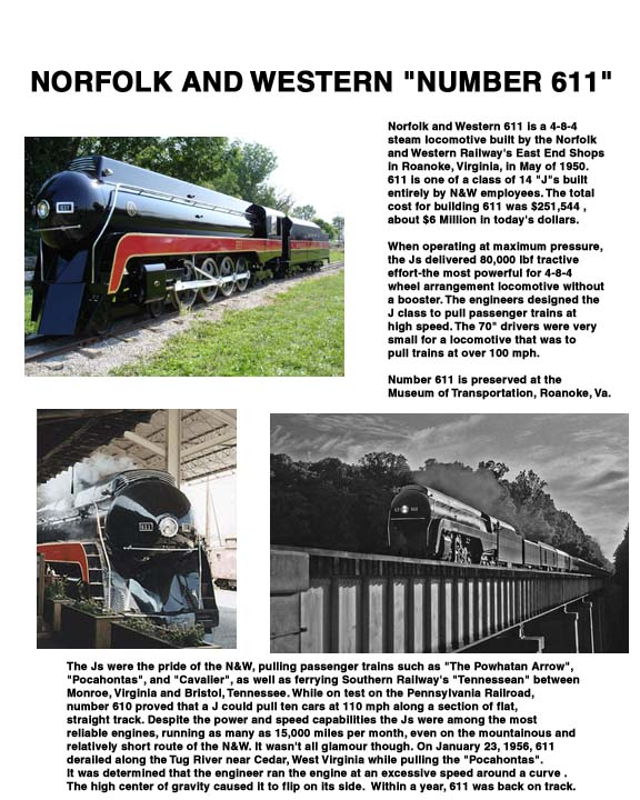 Writeup of the N and W Locomotive 611