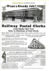 Railway Postal Clerk Advertisement November 1932 issue of Popular Mechanics