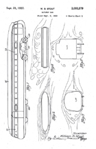William Stout Railplane Original Design, Patent No. 2,093,579