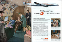 TWA ad for the Lockheed Constellation