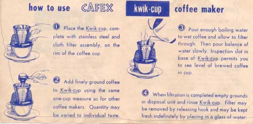 CAFEX kwik-cup brewer-Directions