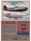 Card 018 of the Wings Friend or Foe series Republic P-47 Thunderbolt