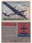 Card 051 of the Wings Friend or Foe series The Boeing B-29 Superfortress